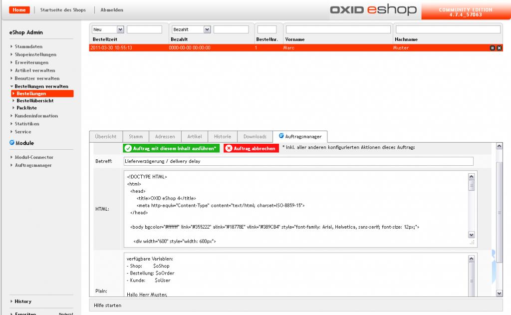 D3 - Oxidmodule | Auftragsmanager für Oxid PE | Modul online kaufen